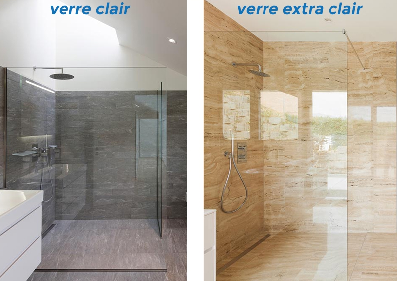 verre clair ou verre extra clair